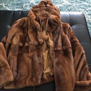 Mink Jacket/ hood